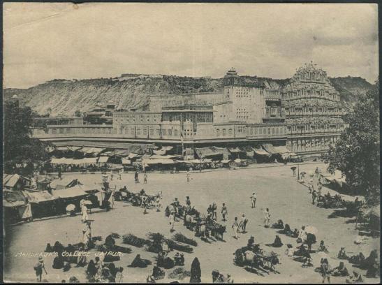 View of Hawa Mahal -Photos from Jaipur, 1880-1920 (Image Source: Columbia University)