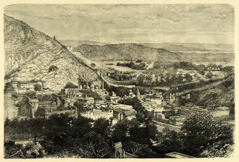 """The Valley of Ambir,"" a wood engraving, c.1878"